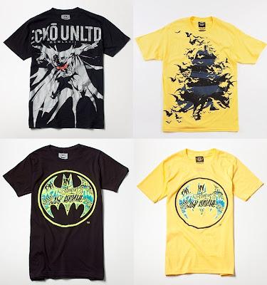 DC Comics x Ecko Unltd. Batman T-Shirt Collection - Explosive, Dark Striper, Black Vandal Signal, Yellow Vandal SignalT-Shirts
