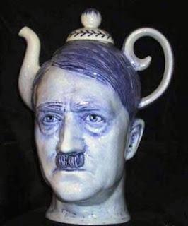 A hand made Hitler teapot