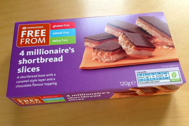 Morrisons Free From Millionaire's Shortbread