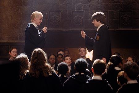 Harry potter 2 chamber of secrets harry vs draco first duel kiddy jpg