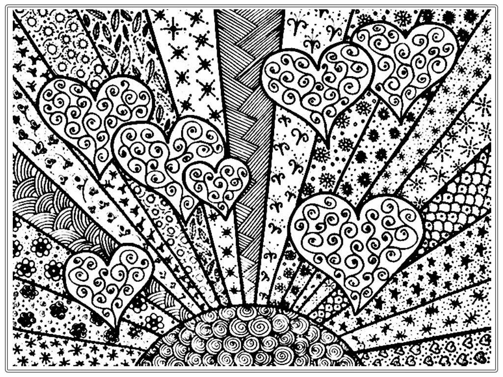 free heart coloring pages online - photo#34