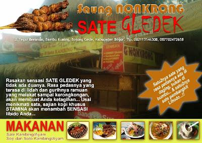 Sate Gledek Saung Nonkrong, sate pembangkit libido!