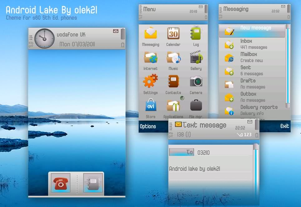 Android Lake by Olek21 / Theme Symbian S60v5