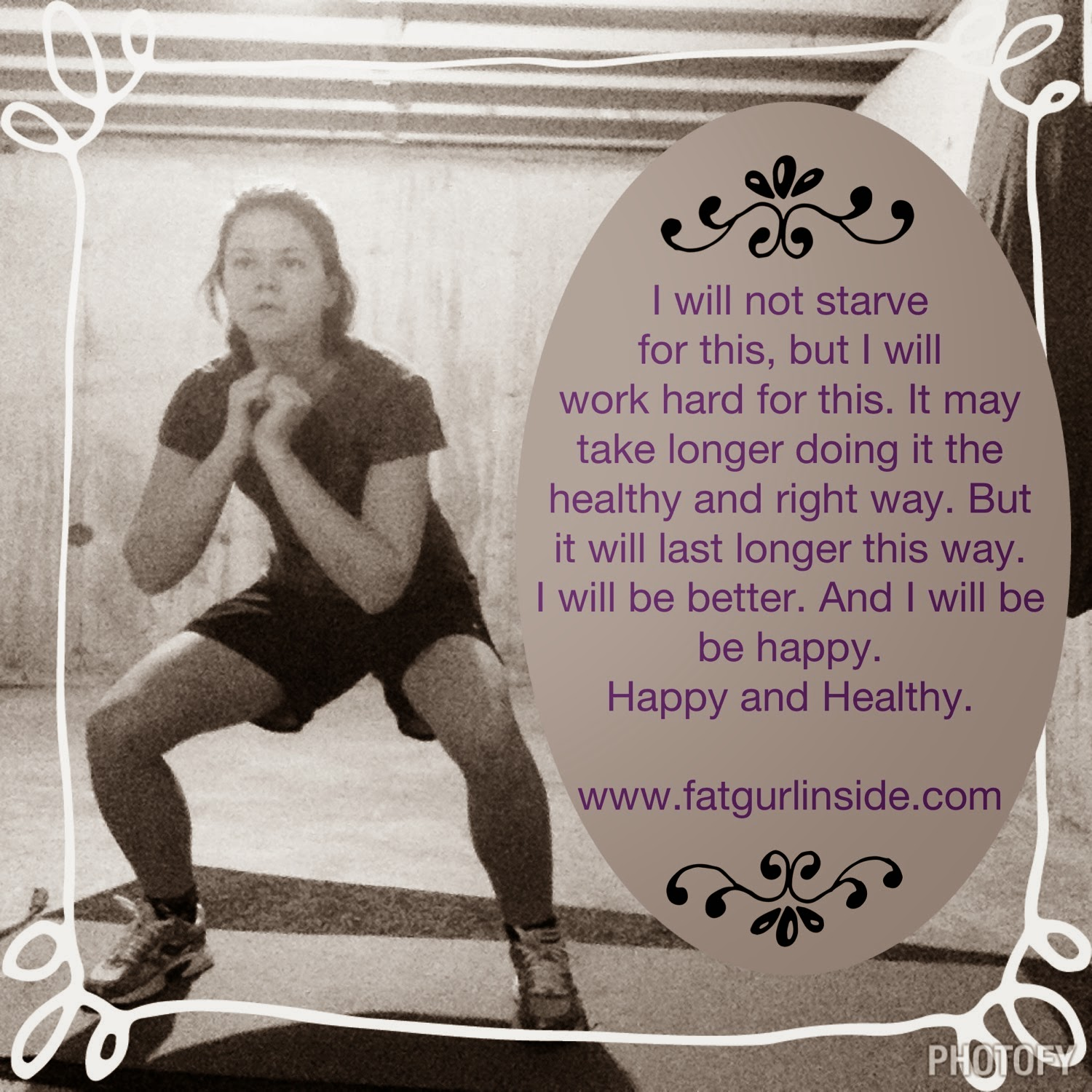 Being Healthy and Happy May Have A Cost www.fatgurlinside.com