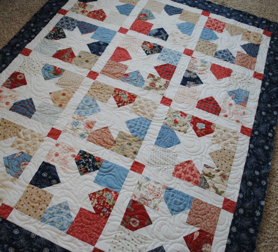 Sisters and quilters more quilt kits and vintage modern is here - Quilt rits ...