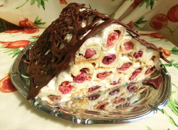 Torta Con Ciliege E Crema Di Panna Acida Casetta Del Monastero