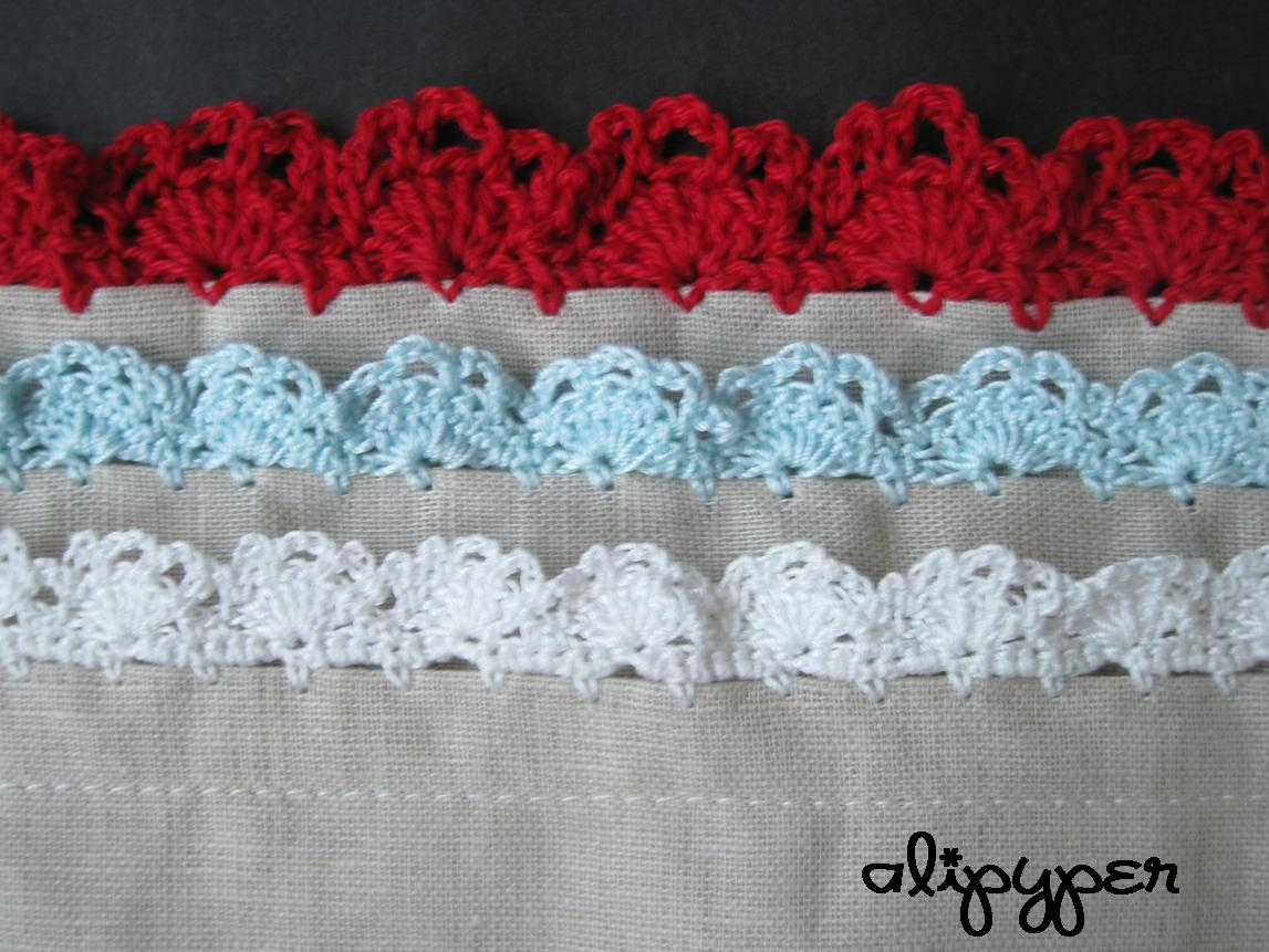 Crochet Lace Pattern For Edging : alipyper: Eyelet Lace Crochet Edging Pattern