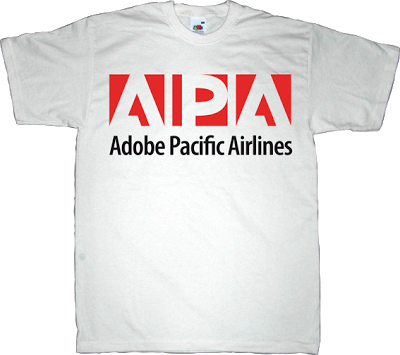 adobe airline useless consumer society useless capitalism useless copyright useless economics useless patents t-shirt ephemeral-t-shirts