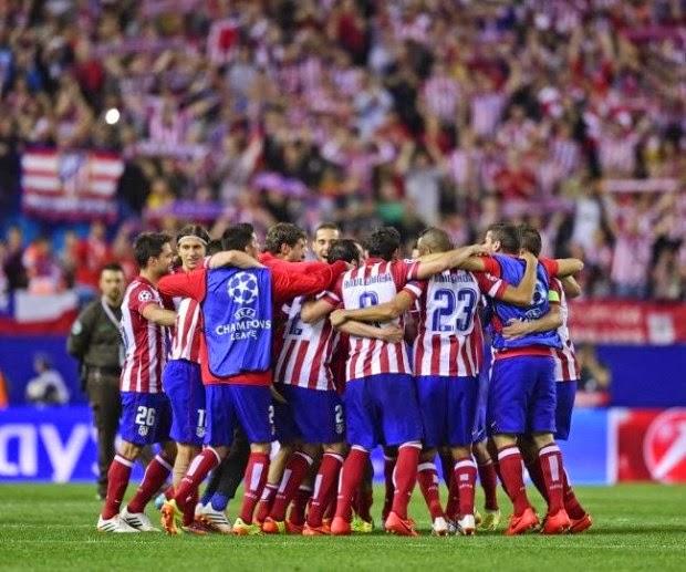 El Atlético de Madrid celebra