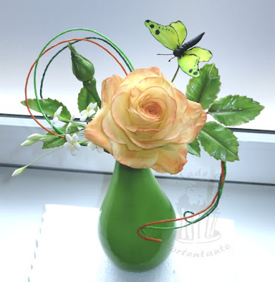 Rose aus Zuckerrosen Kurs