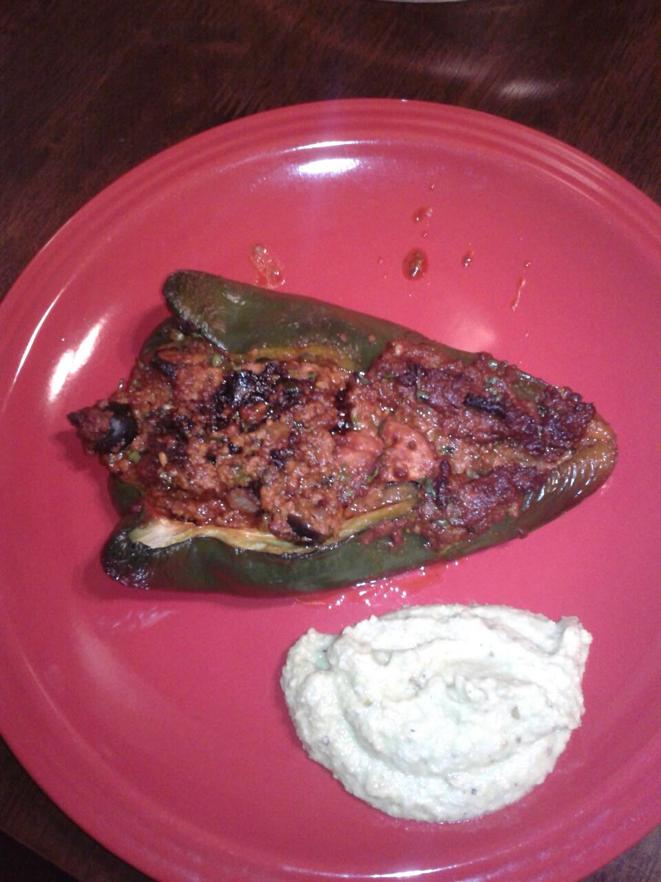 Hunt. Gather. Eat.: Chorizo Stuffed Poblano Peppers
