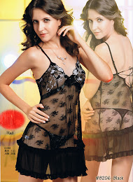 8206 : BLACK only, Free Size (Size Fits Most S, M & L) with G-String