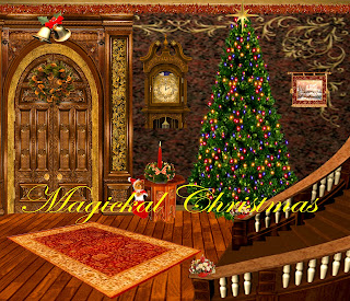 Magickal Christmas digital fantasy backgrounds