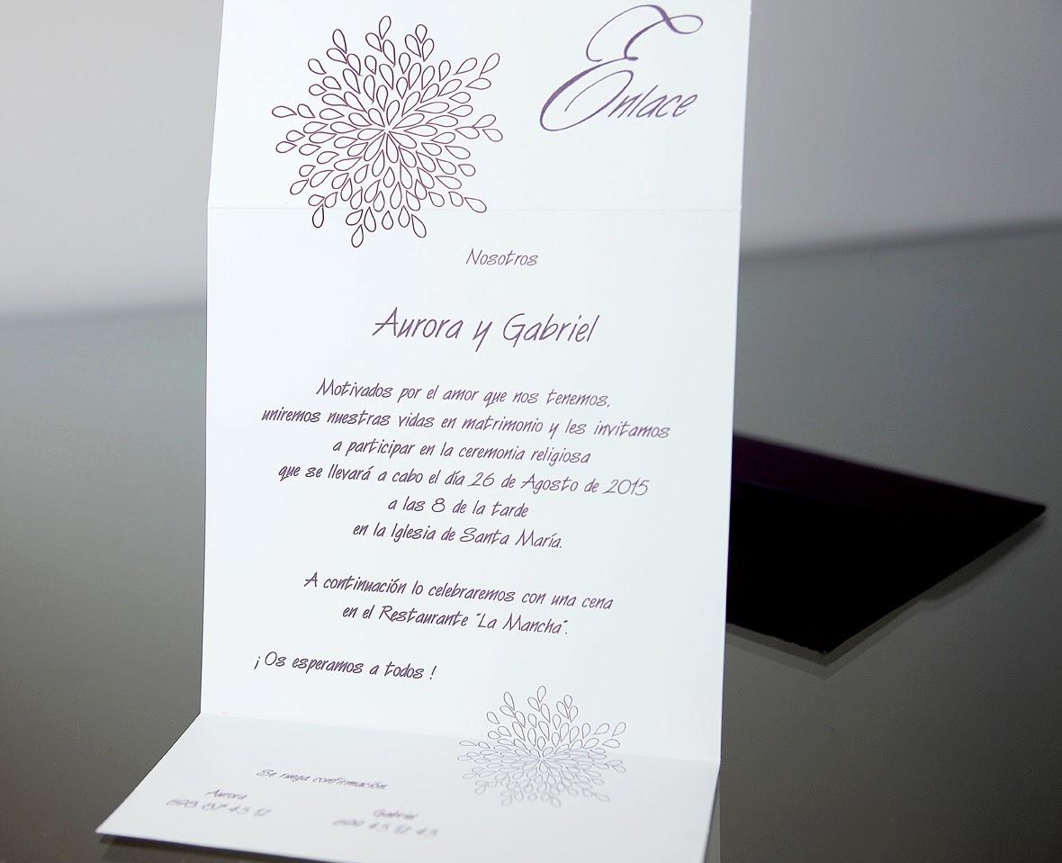 INVITACIÓN DE BODA 34942 CARDNOVEL