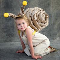 Selbstgemachtes Schnecken-Kostüm - Last Minute ohne Nähen
