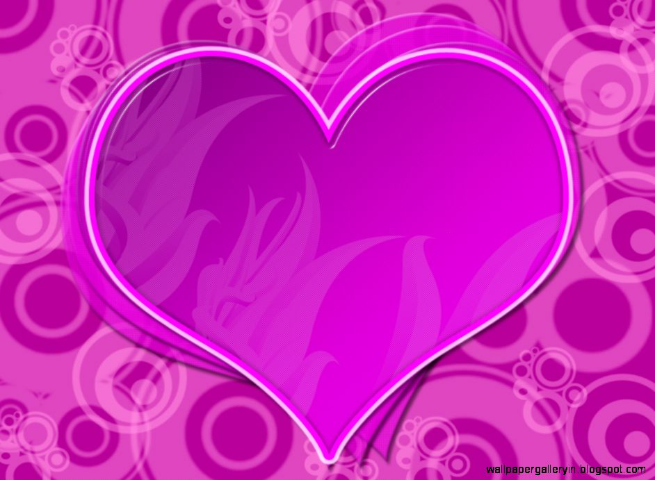 Love Heart Gallery Wallpaper : Two Heart Love Pink And Purple Hd Wallpaper Wallpaper Gallery