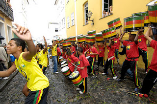olodum school drum practice in bahia brasil