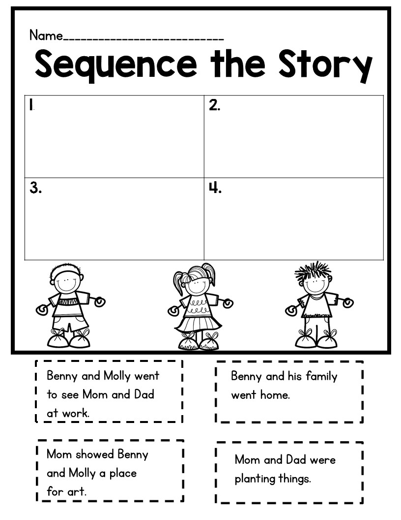 All Worksheets Cut And Paste Sequencing Worksheets For First