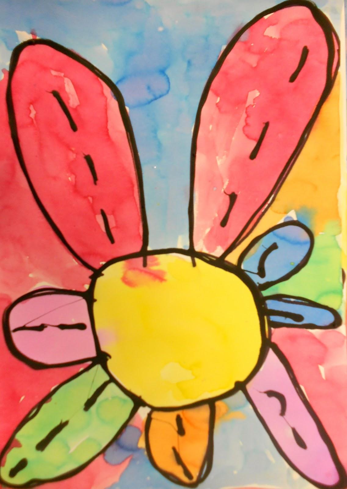 art eat tie dye repeat kindergarten georgia o u0027keeffe flowers