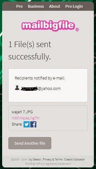 TIps hantar fail besar melalui emel
