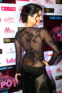 Sunny Leone Jackpot Opening Ceremony with Black Dress