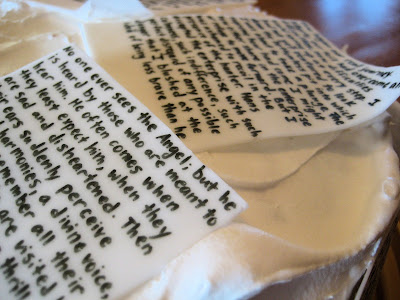 Classic Book Pages Cake - Close-Up View of Pages 7