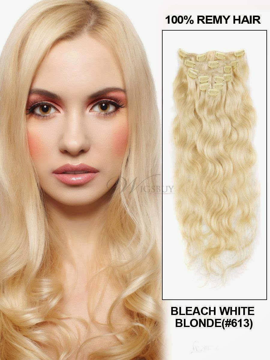http://shop.wigsbuy.com/product/22-Inches-Wavy-Bleach-Blonde-613-7pcs-Clip-In-Remy-Human-Hair-Extensions-10862317.html