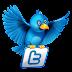 Flying Twitter Bird Widget to Blogger Post