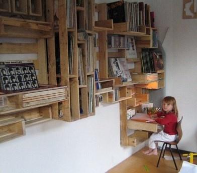 Super estanter a hecha con palets - Estructuras con palets ...