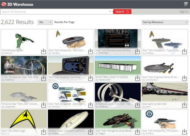 Descarga los modelos de naves espaciales para Google Sketchup
