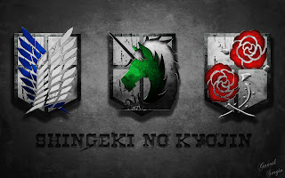 Attack on Titan Shingeki no Kyojin Emblem Logo Anime HD Wallpaper Desktop PC Background