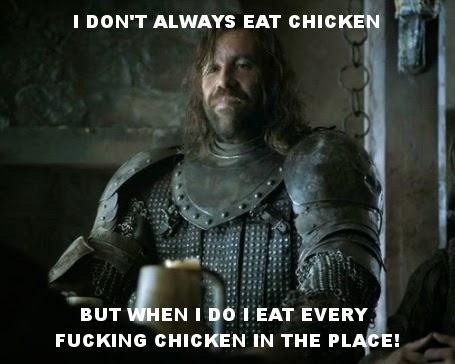 #GameOfThrones Chicken Meme Starring The Hound