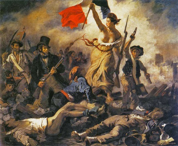il quadro rivoluzione francese Delacroix, significato
