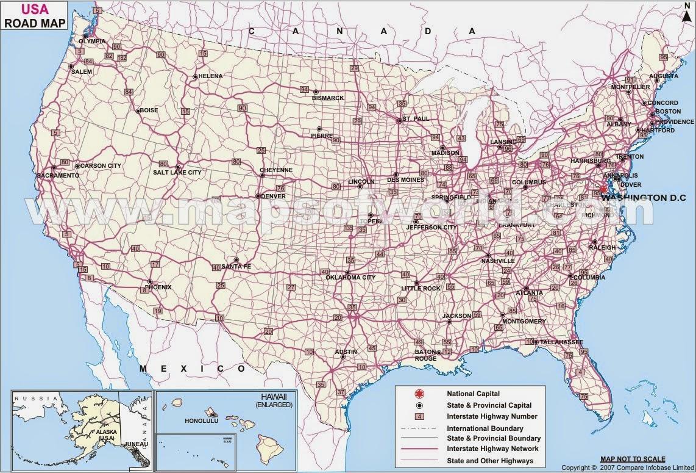 Transporte Estados Unidos Mapa