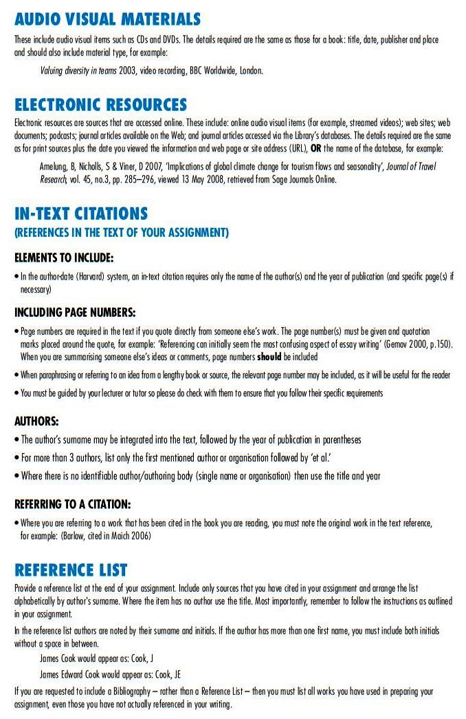 referencing in essays australia Tertiary essay writing essays are a common form of assessment in many tertiary-level disciplines , referencing and proofreading for example, if you expect to spend 30 hours preparing a 2000-word essay, 15 hours would be spent analysing the question, finding relevant material.