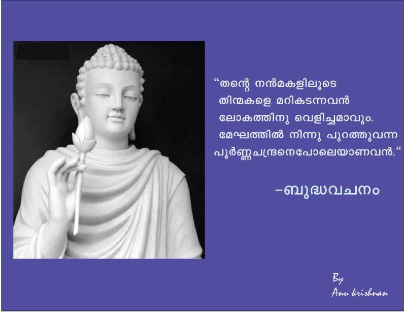 Buddha Quotes Malayalam