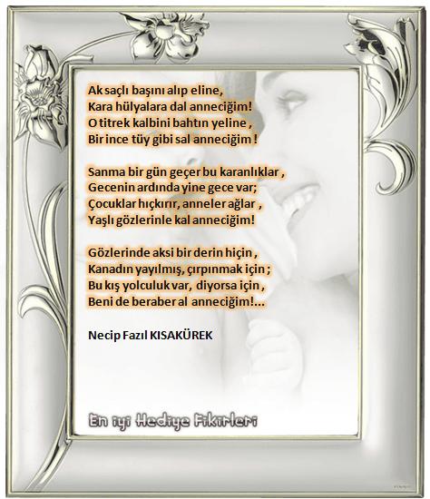 Anneye Güzel Şiirler