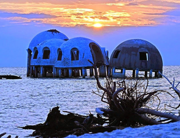 Disappearing Domes at Sunset