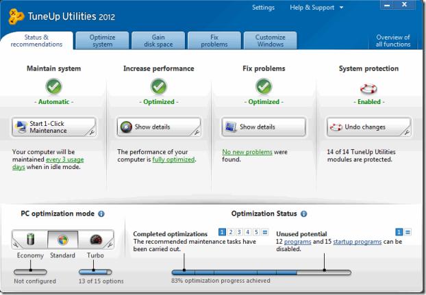 TuneUp Utilities 2012 Full Version Download
