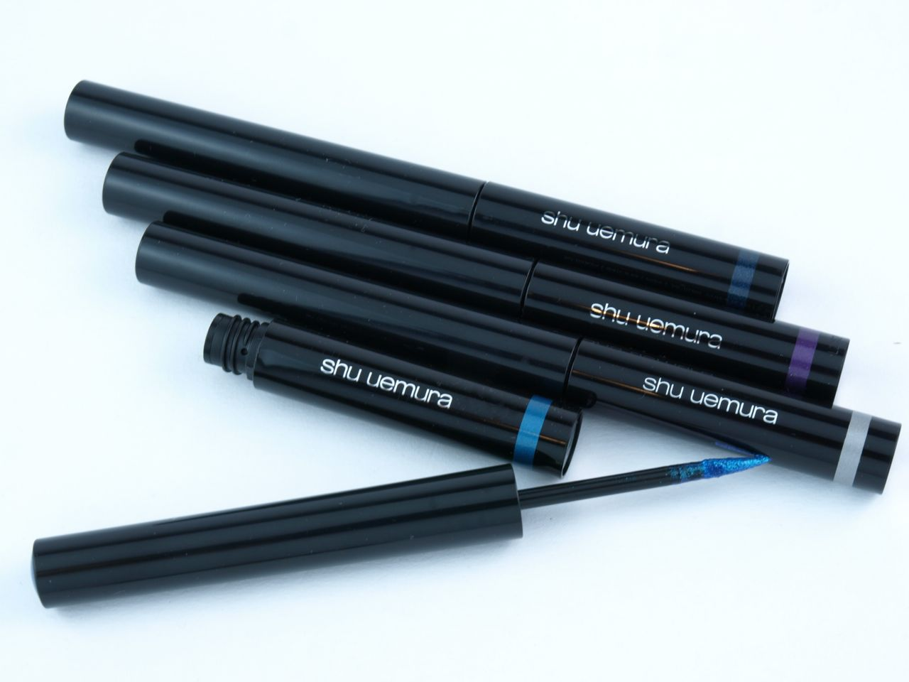 "Shu Uemura Metal:Ink Liquid Eye Liner in ""ME Silver"", ""ME Purple"", ""ME Blue"" & ""ME Navy"": Review and Swatches"