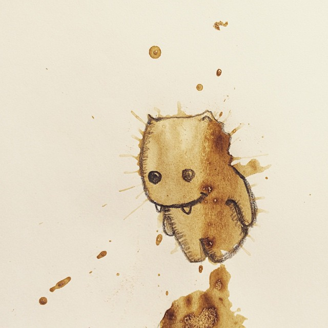 04-30-Foot-Monster-Stefan-Kuhnigk-Monster-Drawings-within-Coffee-Stains-www-designstack-co