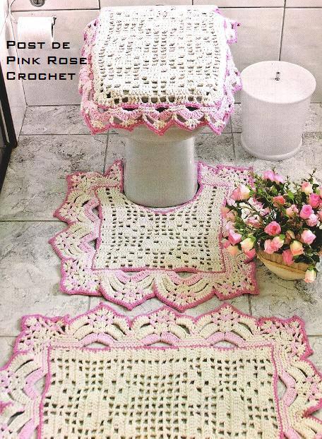 Juegos De Baño Tejidos A Crochet:Juegos+De+Bano+a+Crochet juegos de baño