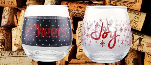 KOVOT Holiday CHEERS and JOY Stemless Wine Glass #KOVOTHolidayCHEERSandJOYStemlessWineGlass