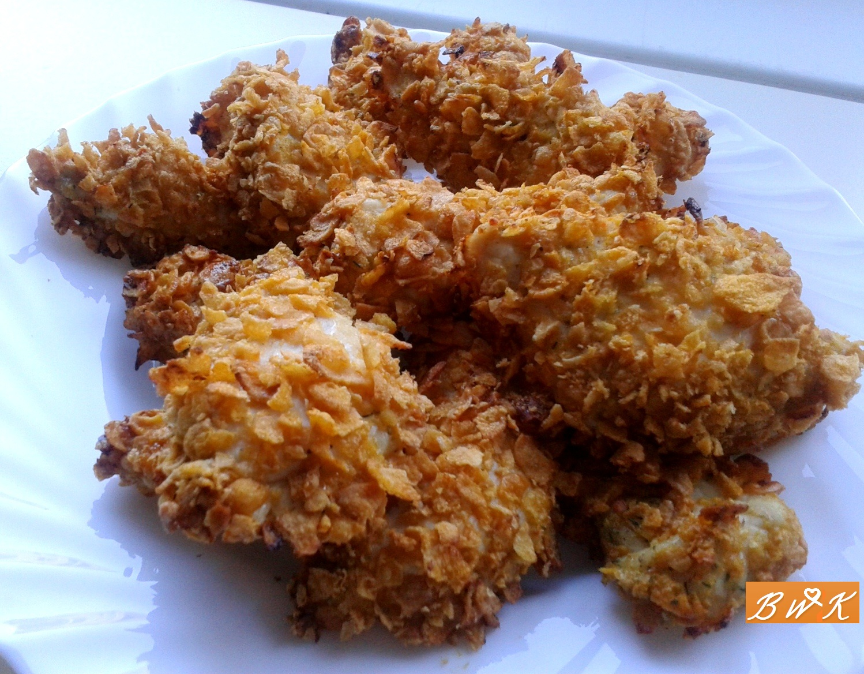 Bajerantka W Kuchni Najlepsze Nuggetsy Z Kurczaka W Platkach