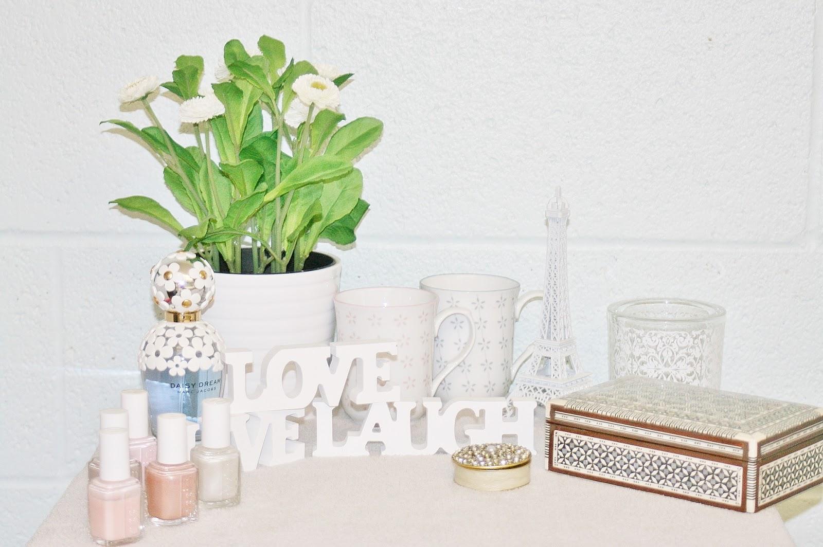 Katherine Penney Chic Bedroom Room Uni Decor Interior White Pretty Pastel Decorations Girlie