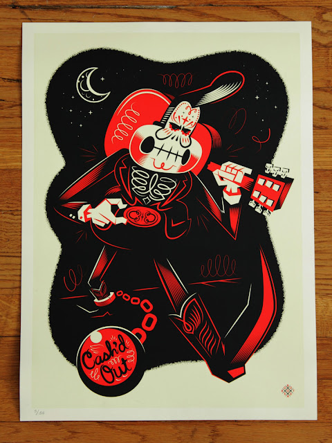Johnny Cash Day of the Dead Print