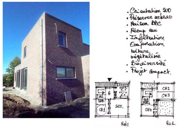 Labokub architecture ecologique à Lille Maison BBC = Ossature Bois + Paremen
