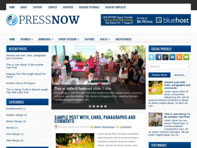 PressNow Blogger Template