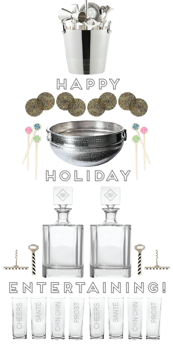 (happy) holiday entertaining: seven goodies to take your party from drab to fab!