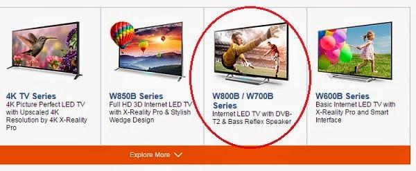 TV Digital Sony yang menggunakan tuner DBV-T2